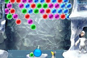 《雪人泡泡龙》游戏画面1