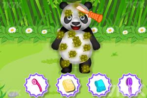 《照顾熊猫宝贝》游戏画面1