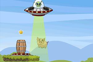 《UFO送小动物回家》游戏画面1