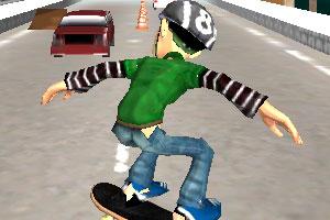 《滑板少年道路冲刺》截图1