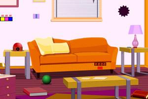 《逃离杂乱客厅》游戏画面1