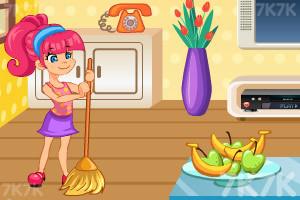 《帮妈妈打扫房间》游戏画面2