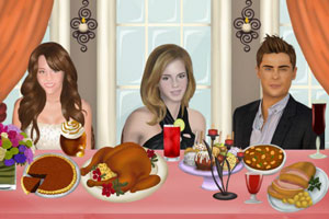 《感恩节的餐桌装饰》游戏画面1
