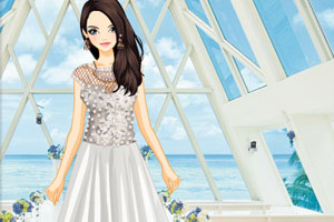 《漂亮的礼服女孩》游戏画面1