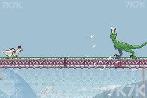 《恐龙大战嗜血公鸡》游戏画面3