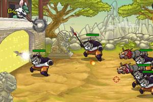 《兔子大战熊猫》游戏画面2
