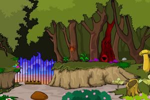 《逃出绿色蘑菇森林》游戏画面1