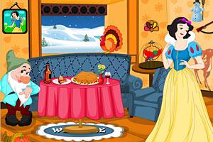 感恩节白雪公主布置房间