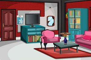 《逃出闪耀的红色客厅》游戏画面1