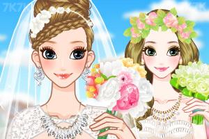 《给新娘做发型》游戏画面1