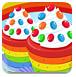 美味的彩虹蛋糕
