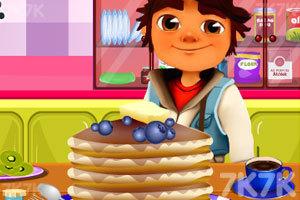 《跑酷小子做煎饼》游戏画面1
