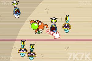《暴打保龄球球瓶怪》游戏画面2