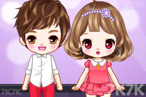 《可爱的小情侣》游戏画面1
