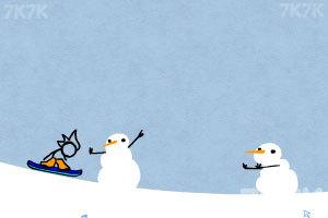 《火柴人冰雪滑板》游戏画面1