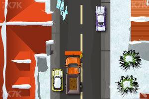 《铲雪车停靠》游戏画面1