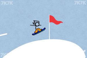 《火柴人冰雪滑板无敌版》游戏画面5