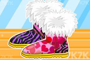《时尚拼接雪地靴》游戏画面1
