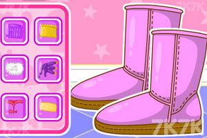 《时尚拼接雪地靴》游戏画面3