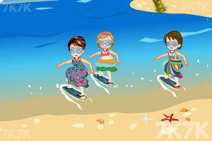 《麦丽莎宝贝的沙滩之旅》游戏画面2