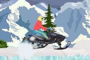 《雪地摩托极限跳跃》游戏画面1