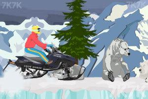 《雪地摩托极限跳跃》游戏画面3