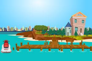 《坐滑水艇逃出岛》游戏画面1
