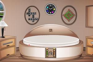 《圆形的客厅逃脱》游戏画面1