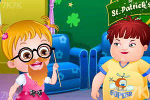 《可爱宝贝的圣帕特里克节》游戏画面1