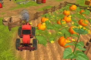 《拖拉机农场停靠》游戏画面1