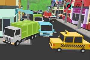 《垃圾车城市停靠》游戏画面1