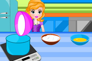 《索菲亚制作蛋糕冰淇淋》游戏画面1