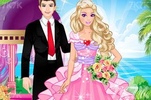 《时尚的芭比新娘》游戏画面1