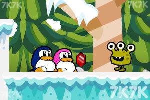 《企鹅爱吃鱼3新大陆无敌版》游戏画面1