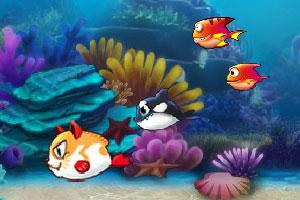 《大鱼吃小鱼2015无敌版》游戏画面1