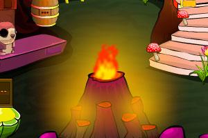 《逃离火山洞穴》游戏画面1