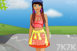 《时尚的滑板女孩》游戏画面1
