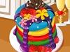 漂亮的彩虹煎饼