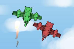 《双猫玩球》游戏画面1