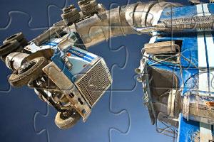 《长臂卡车拼图》游戏画面1