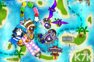 《小猴子守城5万圣节无敌版》游戏画面2