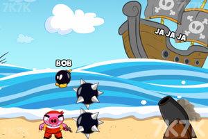 《轰炸海盗猪》游戏画面3