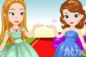 《索菲亚和琥珀的聚会装扮》游戏画面2