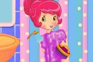 《草莓公主做水疗》游戏画面1