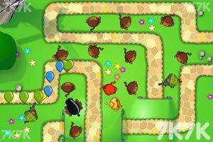 《小猴子守城5中文版》游戏画面1