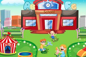 《布置美丽的校园》游戏画面1