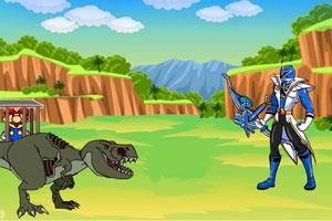 恐龙战队解救马里奥