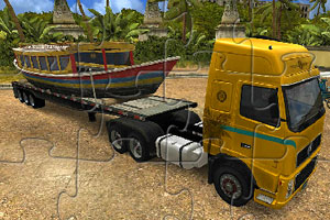 货物运输卡车拼图