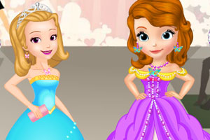 《索菲亚和琥珀时装秀》游戏画面1