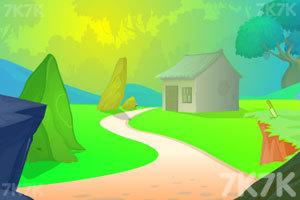 《绿鹦鹉笼子逃脱》游戏画面1